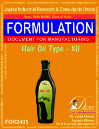 Formula of Hair Oil type-xii