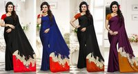 Hiraj Black Designer Saree on Kostub Satin Print