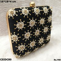 Embroiodered Box Clutch