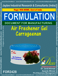 Air Freshener Gel chemical Formula like Dabur