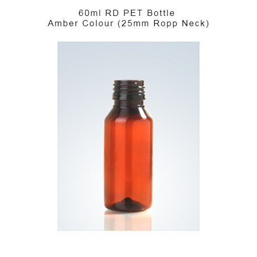 60ml Round Pharma Pet Bottle