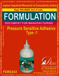 Pressure sensitive adhesive formula type-1