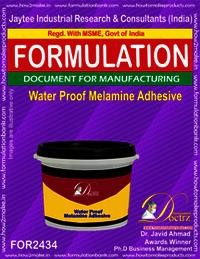Waterproof malamine adhesive formula