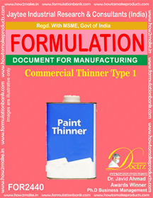 Thinners Manufacturing Formula's