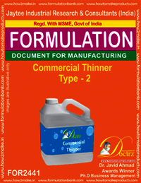 Commercial Thinner Formulation type 2