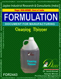 Cleaning Thinner Formulation