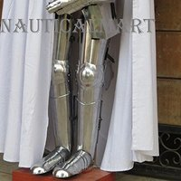 Medieval Steel Greaves Armor Full Leg Guard By Nauticalmart