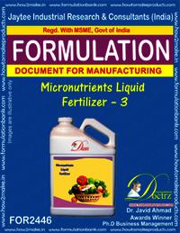 liquid Micro-Nutrient Fertilizer Formula-3