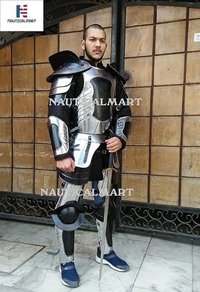 Plate Armour Conquest Warcrafted Half Suit of Armor - Silver One Size