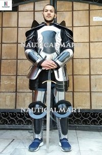 Renaissance Conquest Warcrafted Armor Black One Size Armour