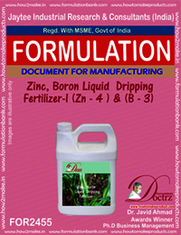 Zinc-Boron Liquid Dripping Fertilizer -1 Z-4 & B-3