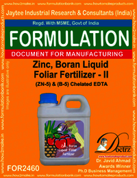 Zinc-Boron Liquid Foleir Fertilizer II Z-5 B-5 Chelatd EDTA 2460