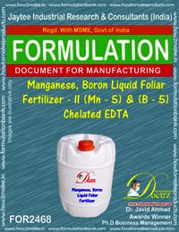 Manganese Boron Liquid Foiler Fertilizer II formula
