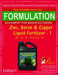 Zinc Boron Copper liquid Fertilizer 1 Formula