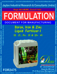 Boron, Iron & Zinc Liquid Fertilizer-I Formula