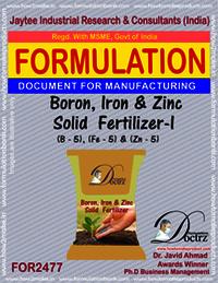 Boron, Iron & Zinc Solid Fertilizer-I Formula