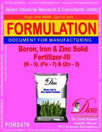 Boron, Iron and Zinc Solid Fertilizer-III Formula