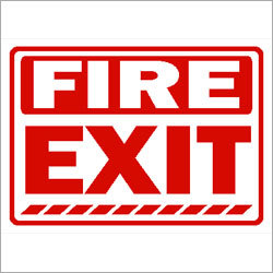 Fire Exit Safety Signage