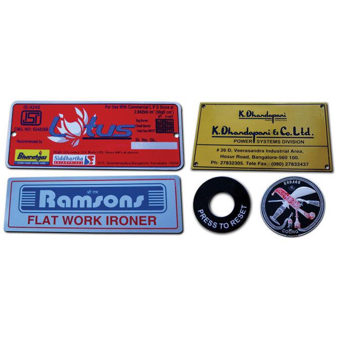 Aluminum name plate