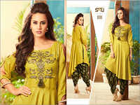 Fancy Kurti With Dhoti Bottom