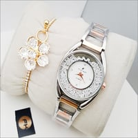 Ladies Watch With Complimentary Bracelet