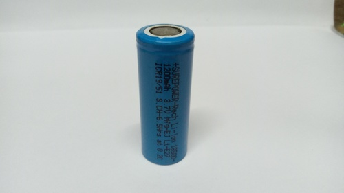 Surepower 3.7V, 1200mAH Li-ion Battery, 18500-1200
