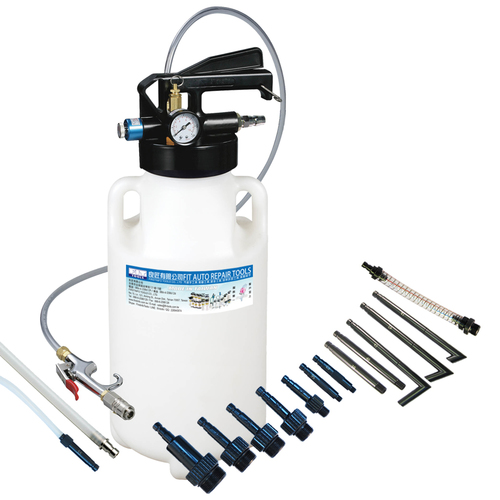 FIT TOOLS 8.5L Two Way Pneumatic ATF Oil Extractor with 14 pcs ATF Adapters/ Refill System Kit