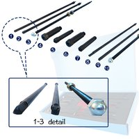 10 pcs Glow Plug Removal Remover Extraction Tool Kit