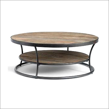Iron and Wooden Coffee Table