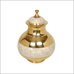 Brass Urn With Mop