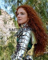Roman Lady Armour Steel Segment Arm Guard Shoulder Halloween Costume
