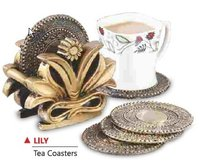 Gold Coin Tea Coaster