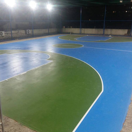 Polyurethane Coated Sports Flooring