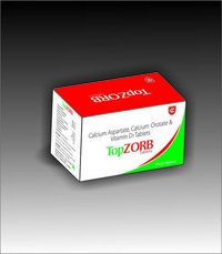 TOPZORB Calcium Aspartate Calcium Orotate Calcitriol Vitamin D3 Tablets