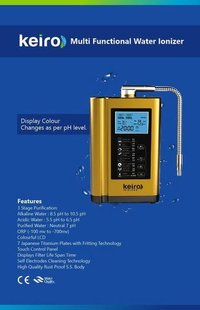 KEIRO MULTI FUNCTIONAL WATER IONIZER