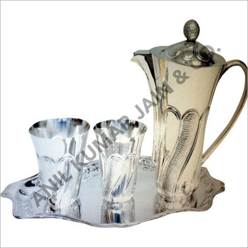 Decorative Silver Jug Set