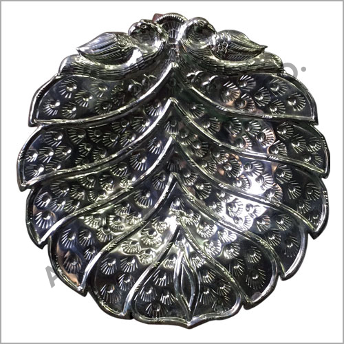 Leaf Decorative Silver Bowl