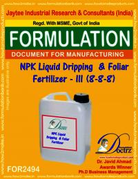 NPK Liquid Dripping & Foliar Fertilizer – III