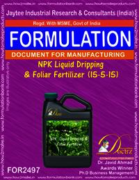 NPK Liquid Dripping & Foliar Fertilizer