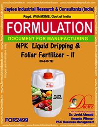 NPK Liquid Dripping & Foliar Fertilizer -II