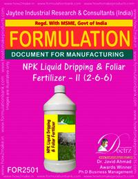 NPK Liquid Dripping & Foliar Fertilizer – II (2-6-6)