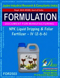 NPK Liquid Dripping & Foliar Fertilizer IV