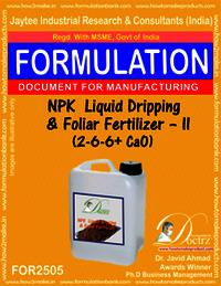 NPK Liquid Dripping & Foliar Fertilizer-II (2-6-6+Ca0)
