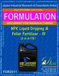 NPK Liquid Dripping & Foliar Fertilizer - III (2-6-6 + TE)