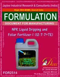 NPK Liquid Dripping and Foliar Fertilizer -I (12-7-7+ TE)