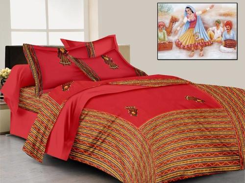Jaipuri Patch Work Bed Sheet
