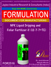 NPK Liquid Dripping and Foliar Fertilizer-II (12-7-7+TE)