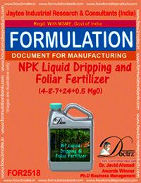 NPK Liquid Dripping and Foliar Fertilizer (4-8-7+ 24 +0.5 MgO)