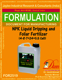 NPK Liquid Dripping and Foliar Fertilizer (4-8-7+ 24 +0.5 CaO)