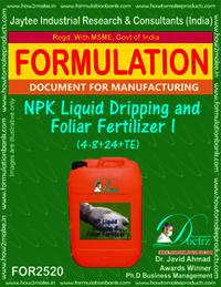 NPK Liquid Dripping and Foliar Fertilizer -I (4-8+ 24 +TE)